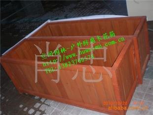 户外花箱 实木花箱,防腐木花箱 木质花盆花槽花架-资材供应 - 中国园