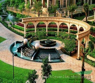 别墅园林景观效果图,别墅园林景观设计风水,欧式别墅庭院园林景观
