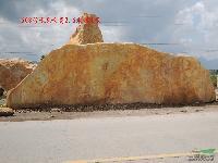 广东最大型的黄蜡石,黄蜡石王,巨型景观石