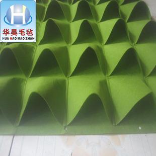 【华昊毛毡】订做环保透气毛毡种植袋 室内壁挂毛毡种植袋