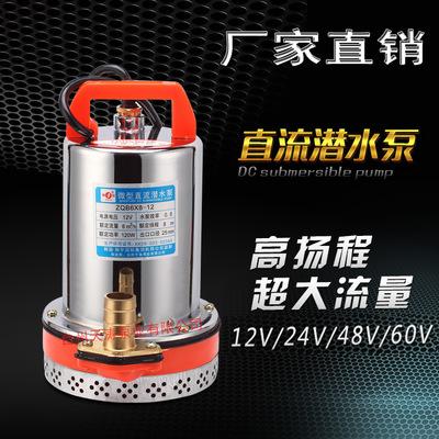 高扬程12V24V48V60V直流潜水泵电瓶车水泵电动车船用水泵抽水机