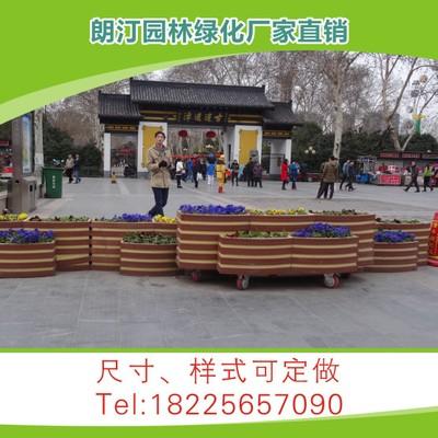花箱厂家 PVC花箱 3+2长条连体可移动组合花箱 道路隔离花箱