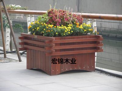 樟子松防腐木花箱,尺寸800*800x高600-资材供应 - 中国园林资材网
