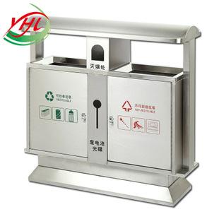 全不锈钢户外垃圾桶厂家批发 优质环保分类不锈钢垃圾箱果皮箱-资材
