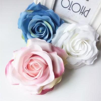 仿真玫瑰 卷边绢花 永生花 装饰花 手工配件塑料花-仿真设施 仿真设图片