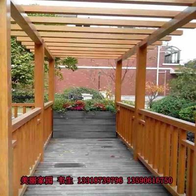 木塑花架廊架葡萄架 生态木塑木厂家直销 户外景观园林工程可定做