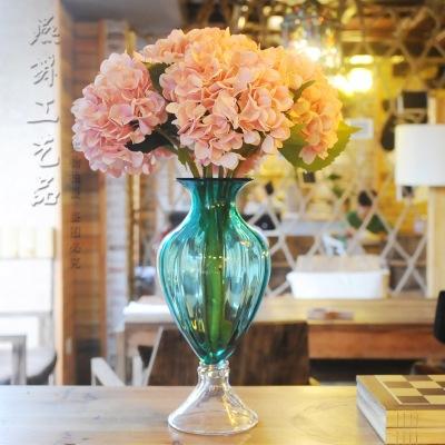 高档布艺2叶绣球 欧式仿真花 客厅酒店餐厅装饰仿真植物 批发-仿真设图片