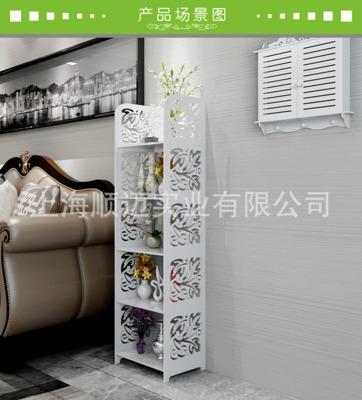樹葉風格雕花置物架層架高寬架花架150*40*30白色5層