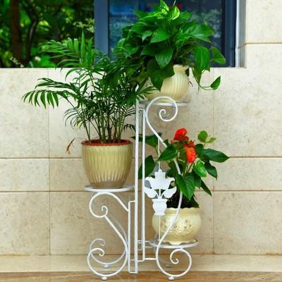 架多层落地阳台吊兰花盆架室内客厅阶梯绿萝花架子特价-园林小品