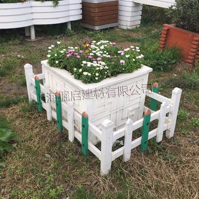 厂家定做木塑花箱阳台防腐木花箱防腐木组合花箱塑料花槽道路木箱-