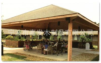 木制凉亭 优质木塑钢化结构木凉亭 木质园林景观亭子厂家定做直销