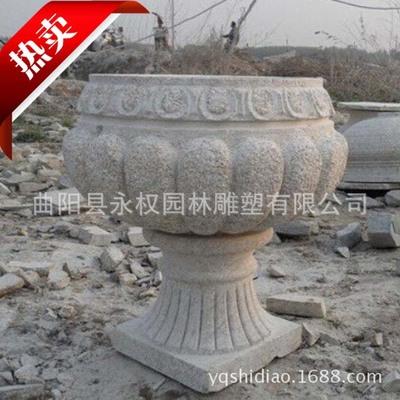 厂家制作加工 石雕花盆 各种优美造型 石雕花盆 现货销售 商