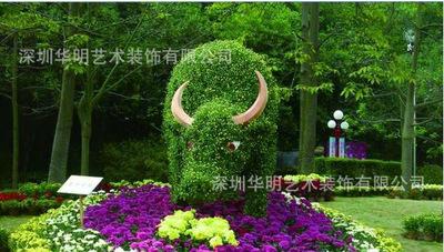 厂家直销仿真植物雕塑工艺品 户外园林景观装饰品摆件 水牛造型