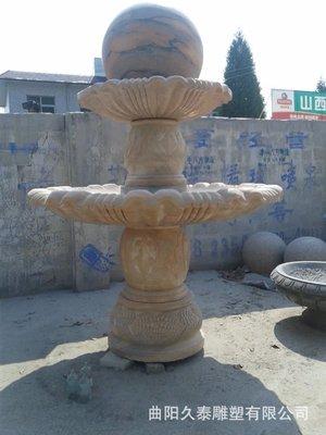 直销 石雕喷泉风水球招财雕刻 庭院园林石雕风水球喷泉造型摆件