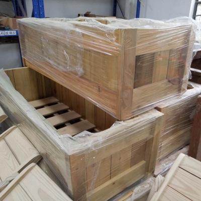 雅麒 定制防腐木花箱 户外花盆容器 绿化道路隔离花槽 免费设计-室外