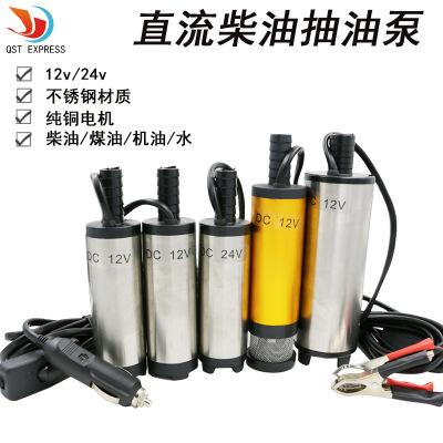 电动抽油泵柴油泵12V直流小潜水泵输油泵小油泵抽水机 自吸泵