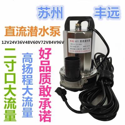 丰远直流电动车水泵12v24v36v48v60v72v农用灌溉抽水机大流量2寸