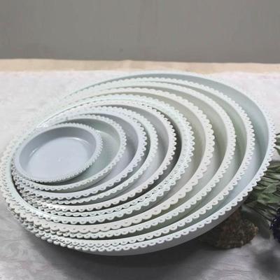 出售大量圆形塑料托盘白色 托盆规格齐全花盆托盘批发