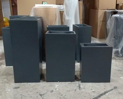 正方形长方形树脂玻璃钢落地花盆 酒店商场大堂插花花盆花钵802