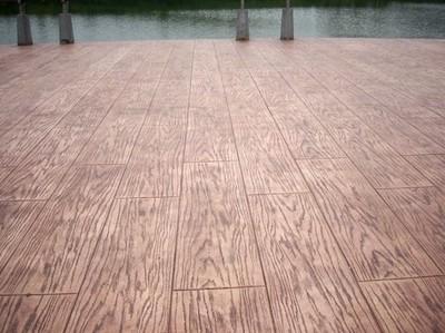 仿木紋壓膜地坪,仿木壓膜小區人行道
