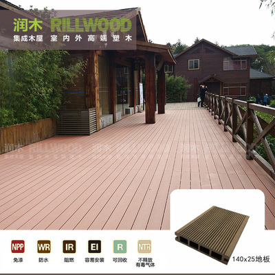 户外木塑地板阳台泳池别墅庭院花园露台栈道防水墙板防腐塑木价格