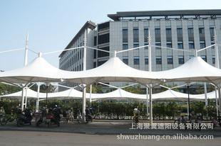 中小型停车场遮阳膜结构,大型停车场遮阳棚,膜结构连体遮阳车棚
